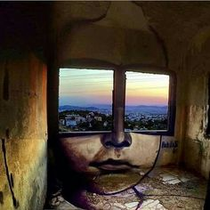Literally, eyes are the windows (to your soul)  street art | art for the soul | graffiti art | thought-provoking art | inspiring art