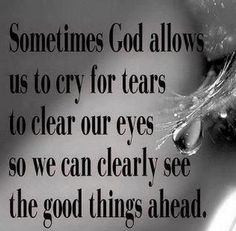 Tears...are a healthy thing people show