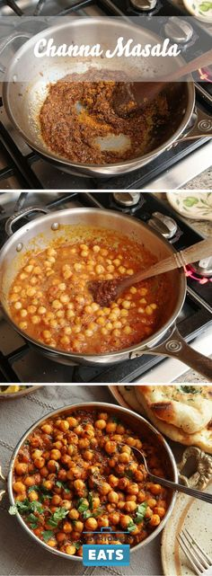 As one of the most popular dishes in the world, both in and out of India and Pakistan, channa masala (or chana masala, chole masala, or chholay, depending on where you're from)—chickpeas cooked in a spicy and tangy tomato-based sauce—is the kind of dish that stirs passions in the recipe-writing community. THis version might not taste like your grandmother's, but we promise that it tastes damn good.