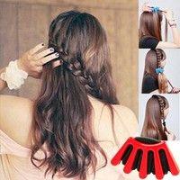 Wish | Hair Braider Clip DIY French Braid Stylist Sponge Plait Hair Twist Styling Braiding Tool Hair Accessories