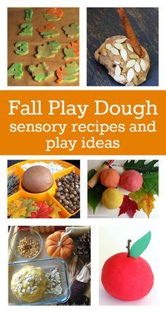 fall play dough recipes :: autumn play dough :: fall sensory play ideas
