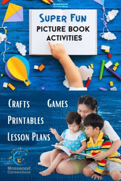 Picture Books Lesson Plans & Extension Activities for Over a Dozen Popular Picture Books -Super Fun Picture Book Activities #mosswoodconnections Speech Activities, Reading Activities, Educational Activities, Preschool Activities, Children Activities, Guided Reading, Kindergarten Homeschool Curriculum, Kindergarten Reading, Homeschooling
