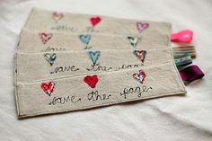 Handmade Linen And Liberty Print Bookmark