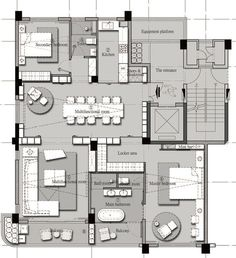 Pin by headache on 平面 in 2019 Detail Architecture, Architecture Plan, Apartment Floor Plans, House Floor Plans, Plan Design, Layout Design, Floor Plan Drawing, Color Plan, Floor Plan Layout