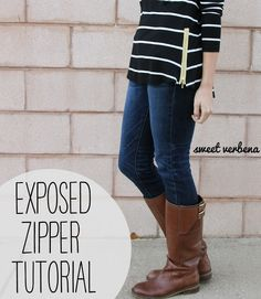 Sweet Verbena: Exposed Zipper Top: a tutorial