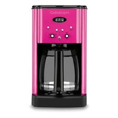 Hmm, seems like this would look great with my raspberry colored KitchenAid mixer. - Metallic Pink Cuisinart Coffee Maker
