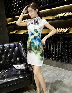 f384ac2df 20 Best Cheongsam_short images in 2017   Cheongsam, Ethnic fashion ...