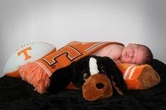 baby boy, baby portrait ideas, baby portraits, newborn portrait ideas, newborn portraits, University of Tennessee, sports themed newborn portraits