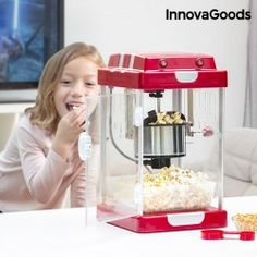 InnovaGoods Popcorn Maker Tasty Pop Times 310W Red