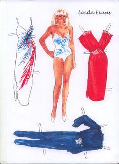 Linda Evans paper doll