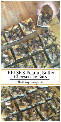 Celebrating #Choctoberfest with @Imperial Sugar with {new}Reese's Peanut Butter Cheesecake Bars http://www.thatssoyummy.com/recipes/reeses-peanut-butter-cheesecake-bars/