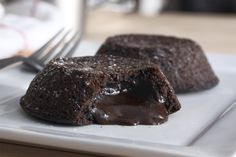Chocolate Lave Crunch Cakes, delicious. Yum!