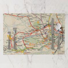London Underground Railways Map Paper Placemat Zazzle Com Map Paper London Underground Placemats