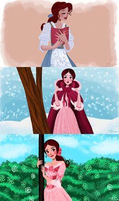 Belle beauty and the beast Disney Pixar, Fera Disney, Disney Nerd, Disney Fan Art, Disney Animation, Disney And Dreamworks, Walt Disney, Disney Characters, Disney Princesses