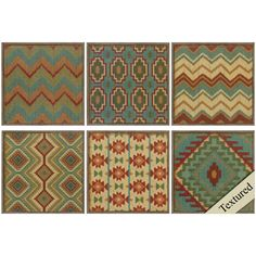 Country Mood Tile 6 Piece Framed Graphic Art Set