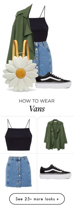 """Fjall backpack NOT the one shown"" by queen-dami on Polyvore featuring Topshop, MANGO, Vans, Charlotte Olympia and denimskirts"
