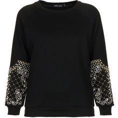 **Pearl Sleeve Sweater by Sister Jane ($88) ❤ liked on Polyvore