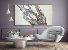 Abstract Acrylic Painting Gold Leaf Art Gold Painting Fluid Art Modern Art Original Painting Abstract Painting Canvas by Julia Kotenko by JuliaKotenkoArt on Etsy