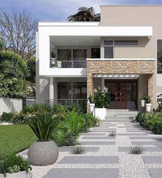 48 Ideas for house facade design modern architecture arquitetura House Designs Exterior, Bungalow Interiors, Facade Design, Exterior Design, Modern Exterior, Minimalist House Design, House Entrance, House Front Design, House Exterior