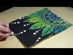 Leaf Mandala Doodle Drawing #BeCre8ive2 - YouTube