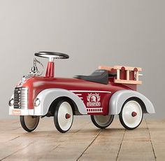 Vintage Fire Truck Scoot   Riding Toys   Restoration Hardware Baby & Child
