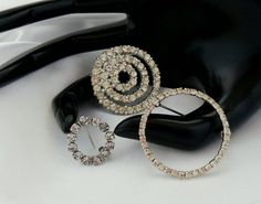 Vintage Rhinestone Brooches Circles Lot by VJSEJewelsofhope, $17.00