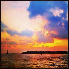 Sunset Pier ~ Key West is a lovely place to watch the sun dive into the Gulf of Mexico.