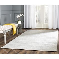 Shop for Safavieh Adirondack Modern Ivory/ Silver Rug (4' x 6'). Get free shipping at Overstock.com - Your Online Home Decor Outlet Store! Get 5% in rewards with Club O!
