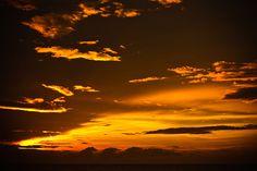 Sunset at Galle Face Green in Sri Lanka