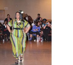 Who says Plus Sizes aren't gorgeous, rocking african ankara fabric jumpsuit by StylebyBike