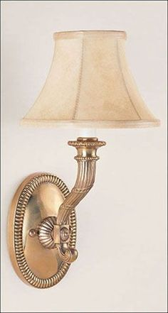 Antiqued Solid Brass One-Light Electrified Wall Sconce