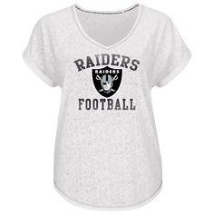 8fe7ffd2f Oakland Raiders Majestic Women s Champion Swagger V-Neck T-Shirt - White