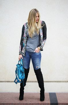 over the knee boots, beaded jacket [ Find. Shop. Discover. www.specialteesboutique.com ]
