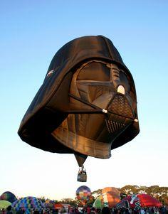 The Darth Vader themed hot air balloon.