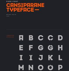 Cansiparane Free Typeface Free Fonts Free Graphic Design OTF Resource Sans Serif Typeface Typography