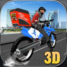 Download Pizza Delivery Bike Rider simulator 3D for Mac Free #MacDownloads