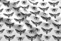Geometric Moths custom fabric by sam_nagel for sale on Spoonflower Custom Fabric, Spoonflower, Moth, Craft Projects, Couture, Quilts, Sewing, Crafts, Diy
