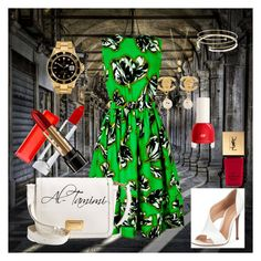 Al-Tamimi by wrdh00 on Polyvore featuring polyvore, fashion, style, Jonathan Saunders, Gianvito Rossi, Marc by Marc Jacobs, Rolex, Chanel, Elsa Peretti, Jennifer Zeuner, Maybelline, Lancôme, Yves Saint Laurent and H&M