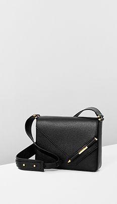 Black pebble calf leather for Leather Crossbody Bag, Clutch Bag, Leather Bag, Calf Leather, Sacs Design, Minimalist Bag, Branded Bags, Leather Shoulder Bag, Shoulder Bags