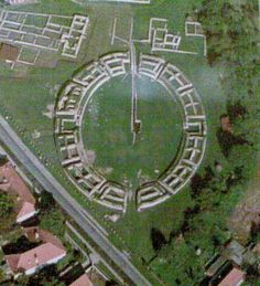 The capital of the Roman province after the conquest. The image renders the amphitheater in Ulpia Traiana Sarmizegetusa