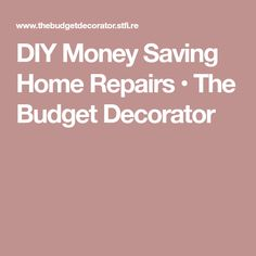 Easy tutorials for money saving home repairs that will keep your wallet happy and give you a little more confidence to tackle some bigger projects next! Bathroom Repair, Leaky Faucet, Exterior House Colors, Home Repairs, Diy Home Improvement, Decorating On A Budget, Simple House, Painting Tips, Home Projects