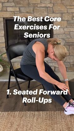 Senior Fitness, Best Core Workouts, Get Healthy, Healthy Mind, Fitness Workout For Women, Fitness Diet, Health Fitness, Chair Exercises, Core Exercises