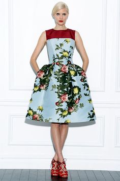 Oh the colors! I'm in love! carolina herrera.. 2013..