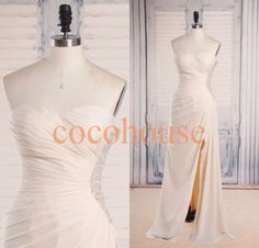 Cream Beaded Long Prom Dresses Fashion Long Bridesmaid Dresses Homecoming Dresses Evening Dresses Wedding Party Dresses Formal Dresses by cocohouse on Etsy https://www.etsy.com/listing/197603080/cream-beaded-long-prom-dresses-fashion