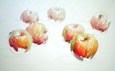 단호박수채화 - Google 검색 Drawing Skills, Food Art, Still Life, Art For Kids, Watercolor Paintings, Art Drawings, Images, Digital Art, Flowers