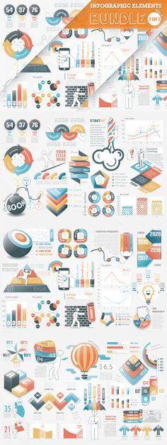 40% OFF Infographic Templates Bundle by Infographic Paradise on @creativemarket