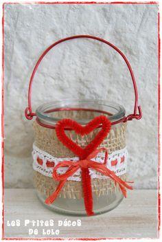 Décorer un petit pot pour la St-Valentin