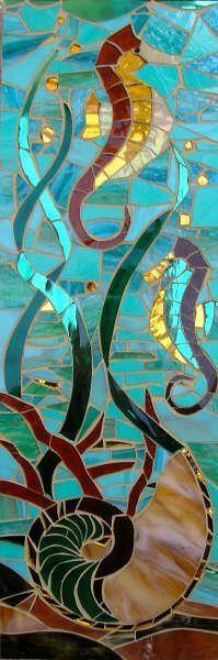 Sea Horse & Nautilus ~ Lizzie Tucker