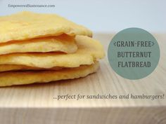 Grain Free Butternut Flatbread makes an easy and healthy bread alternative. It's the best thing since sliced bread! :)