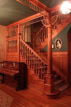 Foyer victorian house davenport, Iowa